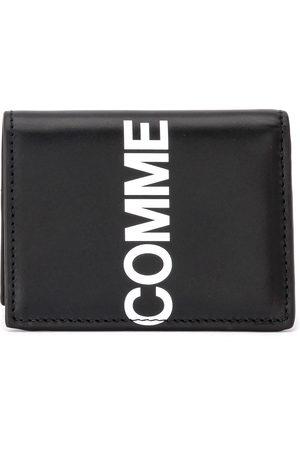 Comme des Garçons Portafogli Wallet Huge Logo in pelle nera , unisex, Größe: One size
