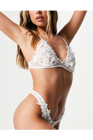 Love & Other Things – Dessous-Set in mit Blumenapplikationen