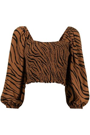FAITHFULL THE BRAND Damen Tops & T-Shirts - Oberteil mit Animal-Print