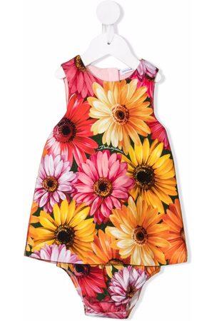 Dolce & Gabbana Ärmelloses Kleid mit Blumen-Print