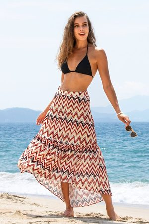 CUPSHE Cover Up-Rock mit Chevron-Print