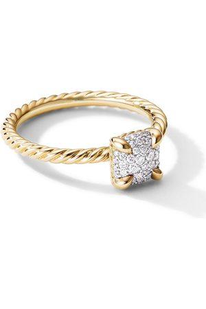 David Yurman 18kt Châtelaine Gelbgoldring mit Diamanten
