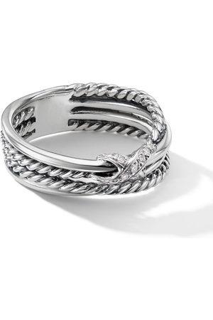 David Yurman X Ring mit Diamanten