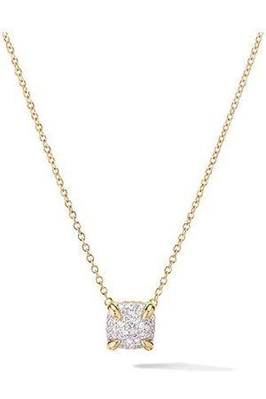 David Yurman 18kt Gelbgoldhalskette mit einem Diamanten