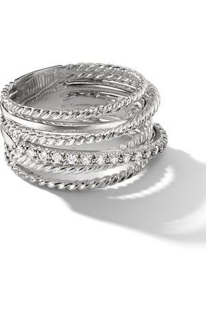 David Yurman Crossover Ring mit Diamanten