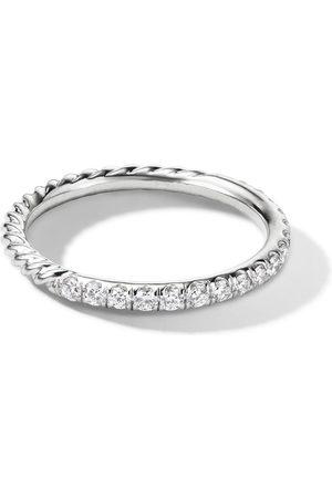 David Yurman 18kt Weißgoldring mit Diamanten