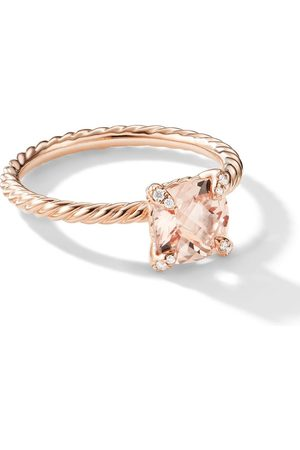 David Yurman 18kt Châtelaine Rotgoldring mit Diamanten