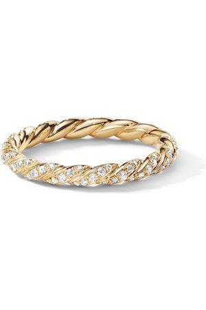 David Yurman 18kt Gelbgoldring mit Diamanten