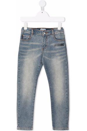 Moschino Slim-Fit-Jeans mit Teddy