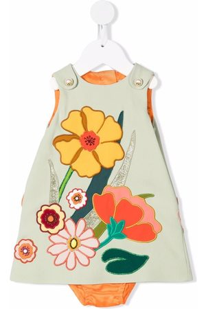 Dolce & Gabbana Floral-embroidered sleeveless dress