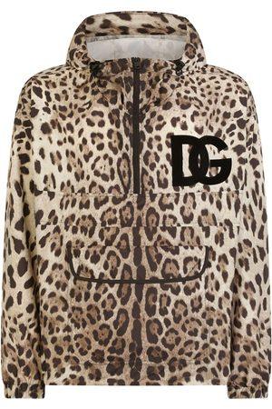 Dolce & Gabbana Herren Outdoorjacken - Jacke mit Leoparden-Print