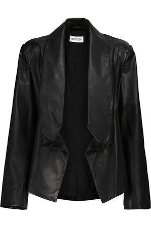 MATICEVSKI Cropped Blazer aus Leder