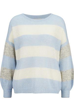 8pm Damen T-Shirts, Polos & Longsleeves - Gestreifter Oversized-Pullover aus Mohair , Damen, Größe: XS