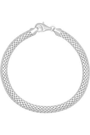 Nialaya Men's Silver Woven Chain Bracelet , Herren, Größe: L