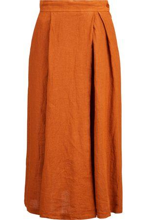 BARENA Damen Weite Hosen - Hosenrock aus Leinen , Damen, Größe: 36 IT