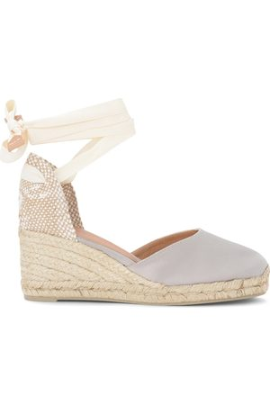 Castaner Carina wedge sandal in gray and dove gray canvas and jute , Damen, Größe: 36