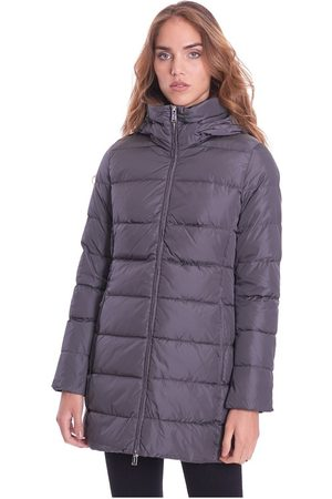 add Long Quilted Down Jacket With Detachable Hood , Damen, Größe: 48