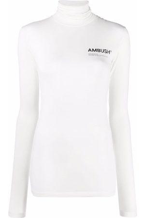 AMBUSH Damen T-Shirts, Polos & Longsleeves - JERSEY WORKSHOP TURTLENECK TOFU BLACK