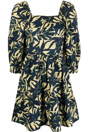 Bash Florales Kleid mit eckigem Ausschnitt