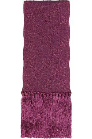 Gucci Lamé jacquard knit scarf