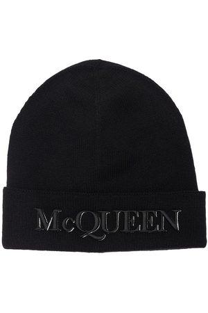 Alexander McQueen Herren Hüte - Beaniemütze Aus Wolle Mit Logopatch
