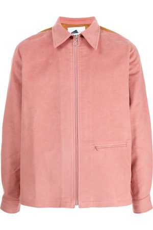 Anglozine Herren Sommerjacken - Yard Hemdjacke mit Reißverschluss