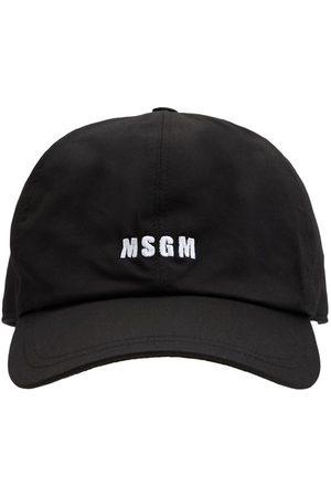 Msgm Herren Caps - Kappe Aus Canvas Mit Logostickerei