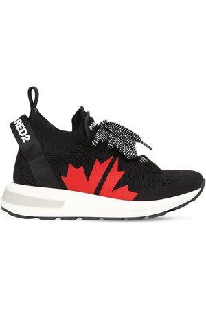DSQUARED2 Slip-on-sneakers Aus Strick Mit Logo