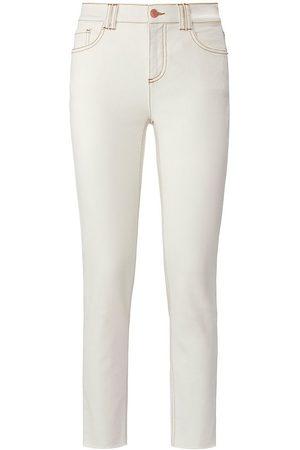 DAY.LIKE Knöchellange Slim Fit-Jeans weiss