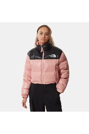 The North Face Nuptse Kurze Jacke Für Damen Rose Tan Größe L Damen