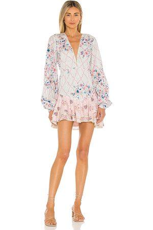 HEMANT AND NANDITA Damen Kleider - Sahar Mini Dress in ,Blush. Size S, XS.