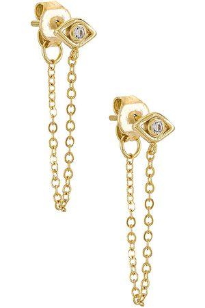 Shashi Damen Ohrringe - Violet Chain Earrings in .