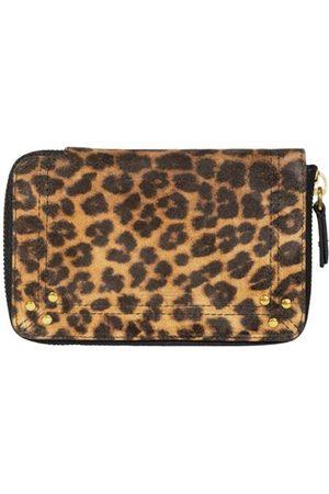Jérôme Dreyfuss Julien leopard pattern split leather wallet , Damen, Größe: One size
