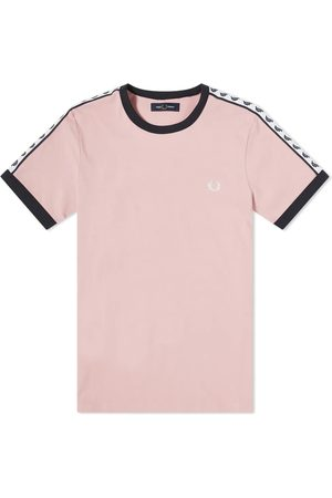Fred Perry Authentic Taped Ringer Tee Pink, Damen, Größe: L
