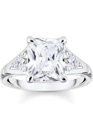 Thomas Sabo Damen Ringe - Ring weißer Stein silber weiß