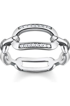 Thomas Sabo Ring Glieder silber weiß