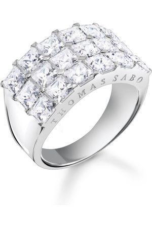 Thomas Sabo Damen Ringe - Ring weiße Steine Pavé silber weiß