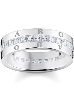 Thomas Sabo Damen Ringe - Bandring weiße Steine Pavé silber weiß