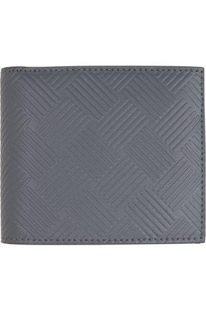 Bottega Veneta Grey Embossed Bifold Wallet