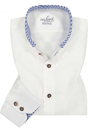 van Laack Trachtenhemd Slim Fit für Herren von in Weiß und Dunkelblau. Mittailliertem Schnitt sowie angenehmer Baumwoll-Qualität präsentiert sich.... Mehr Details bei Lodenfrey.com