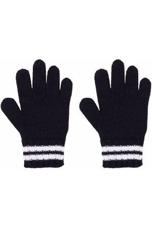 Moncler Gestreifte Handschuhe mit Logo-Patch