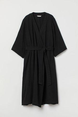H&M Damen Freizeitkleider - Wickelkleid aus Baumwolle
