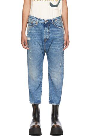 R13 Damen Stretch - Blue Tailored Drop Jeans