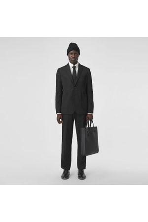 Burberry Herren Stoffhosen - Elegante Cropped-Hose aus technischer Wolle, Size: 44