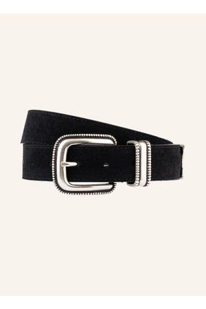 Claudie Pierlot Damen Gürtel - Verarbeitung aus Veloursleder. Silberfarbene Metalldetails. Schließt mit Dornschließe