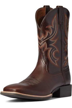 Ariat Herren Schuhe - Men's Sport Cow Country Western Boots in Cusco Brown Leather