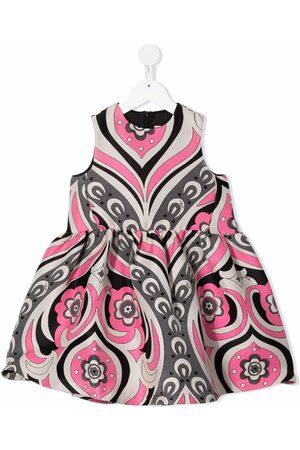 Emilio Pucci Junior Ärmelloses Kleid mit Blumen-Print