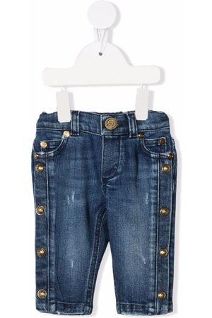 Balmain Kids Cropped - Jeans mit Nieten