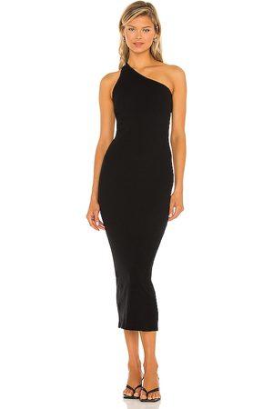 ENZA COSTA Damen Asymmetrische Kleider - Recycled One Shoulder Maxi Dress in . Size M, S, XS.