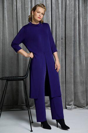 Ulla Popken Slinky-Kleidshirt, Damen, lila